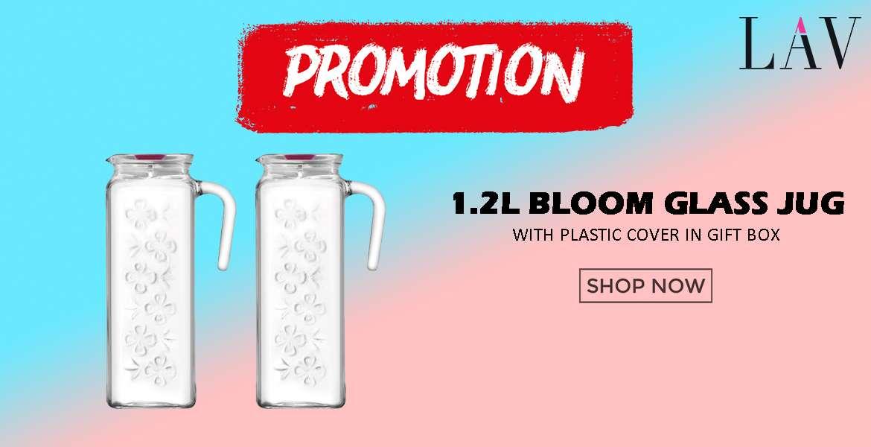 LAV 1.2L Bloom Glass Jug