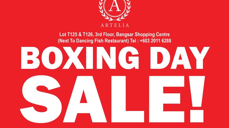 Artelia Boxing Day Sale 2019
